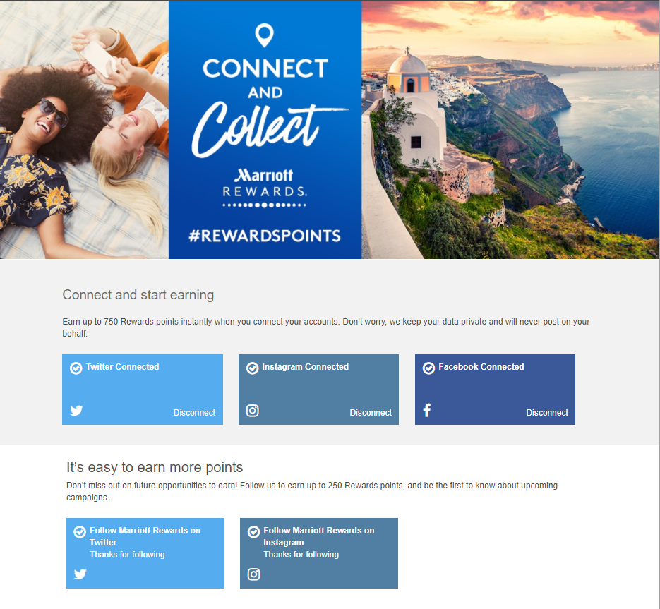 20170814 Connect social media got Marriott Reward