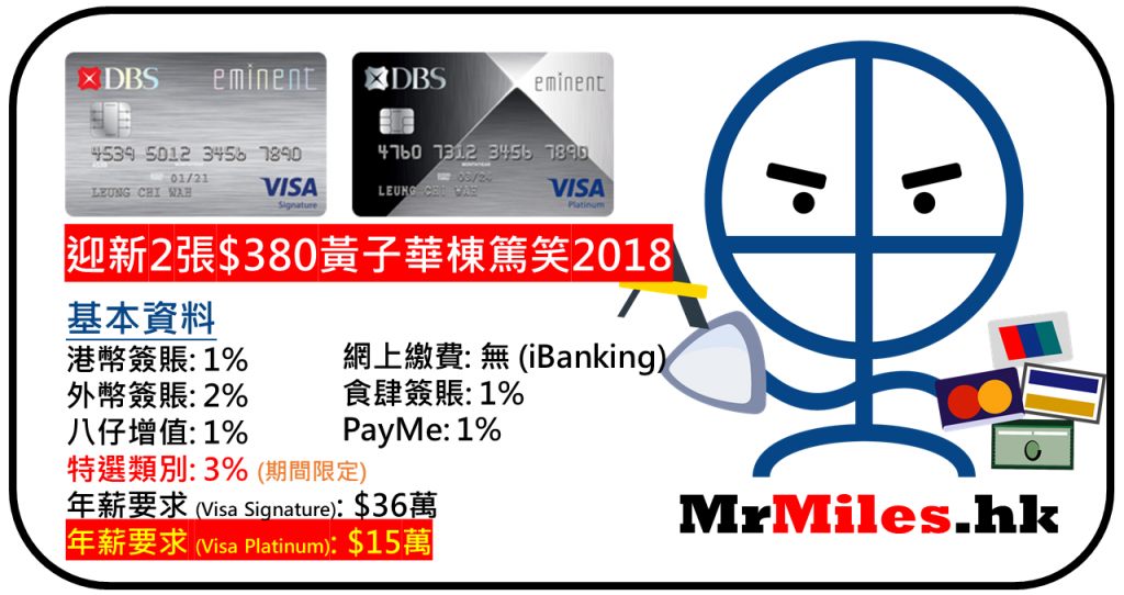 dbs eminent card visa