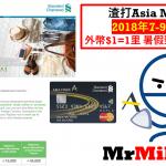渣打Asia Miles信用卡 特選簽賬推廣計劃 外幣$1=1里(包括網上外幣)