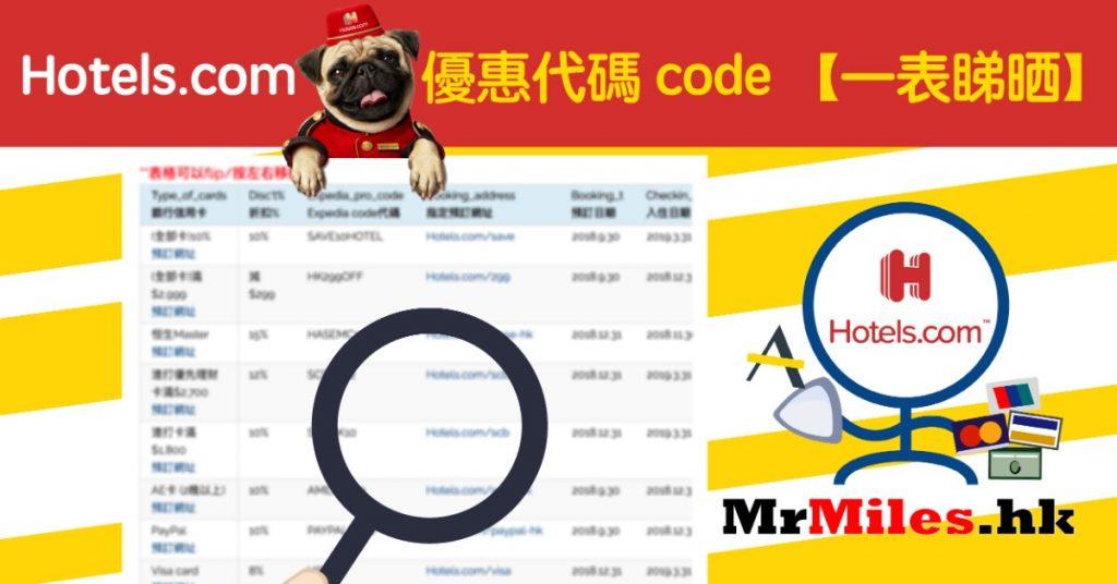 Hotels.com 優惠代碼 code