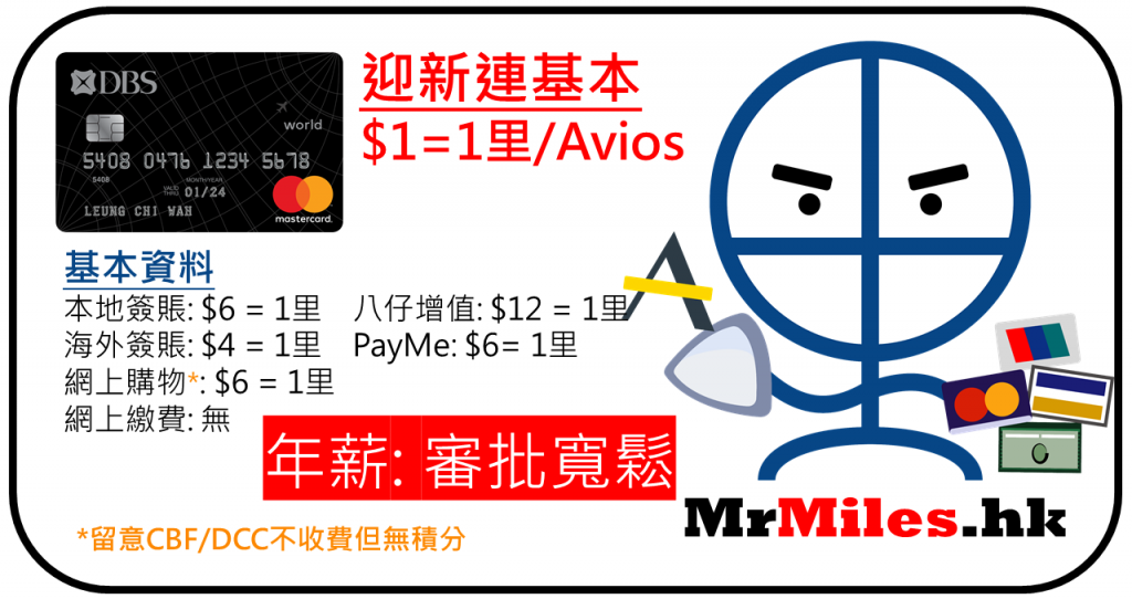 dbs black card 年薪 迎新 年費 avios信用卡