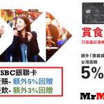 【HSBC台灣簽賬/食肆簽賬】銀聯卡專享5%/3%獎賞錢回贈