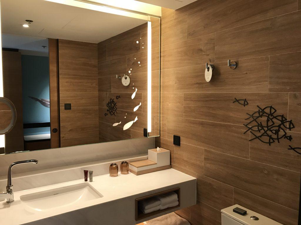 海洋公園萬豪酒店-浴室也以海洋作主題