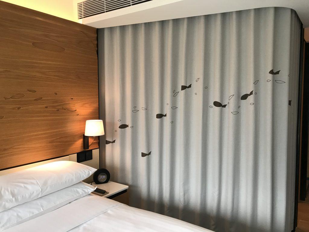 海洋公園萬豪酒店-King Premier Room (玻璃門浴室內可控制浴簾)