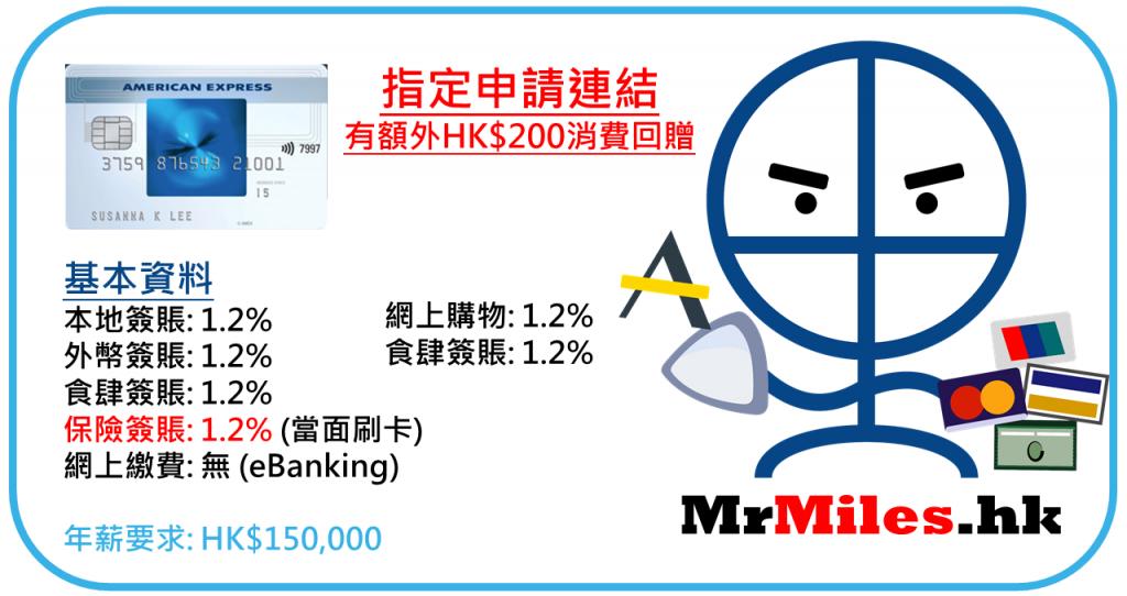 AE blue cash 年薪 迎新 年費 保險