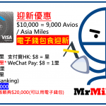 Citi PremierMiles 儲Avios信用卡+迎新簽$10,000有9,000 Avios