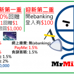 Simply Cash Visa 渣打 現金回贈信用卡 迎新食$1,500回贈(連里先生額外$300) 日常本地/PayMe/支付寶付款1.5% 海外2%