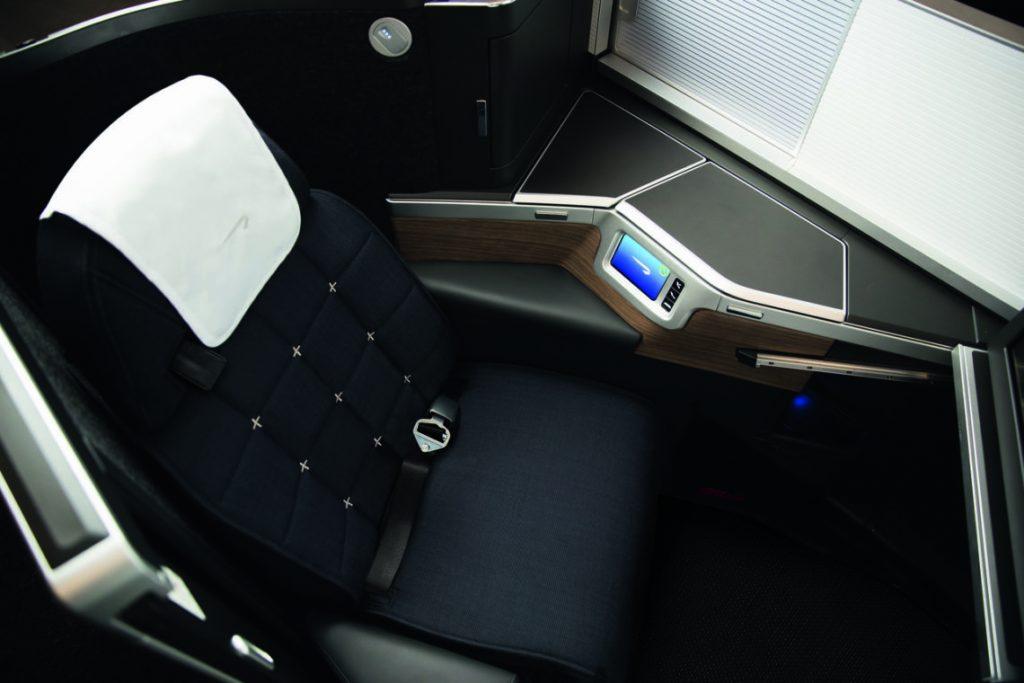 英國航空新商務艙座位窗口