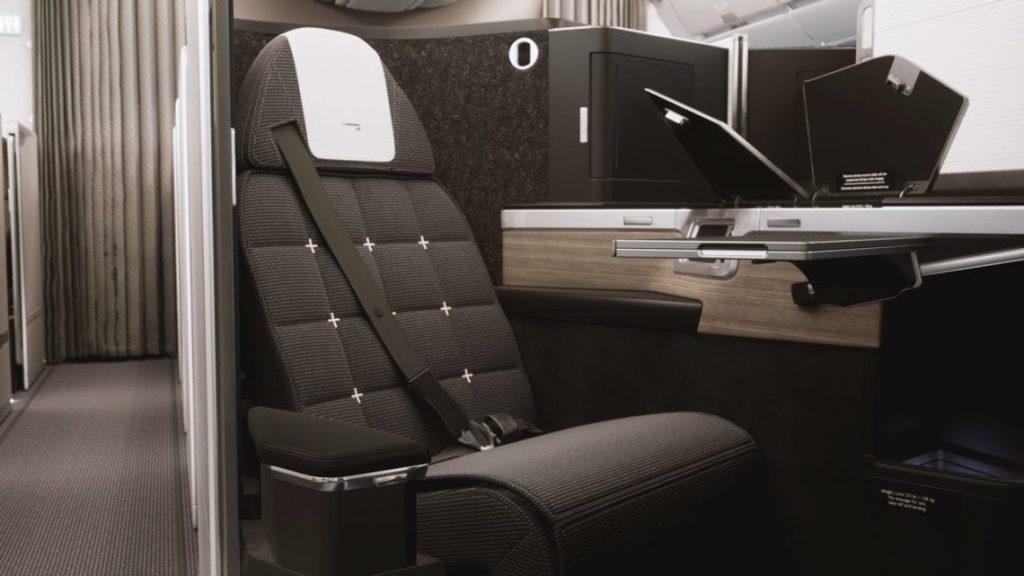 英國航空新商務艙座位