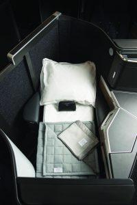 英國航空新商務艙床位bed mode