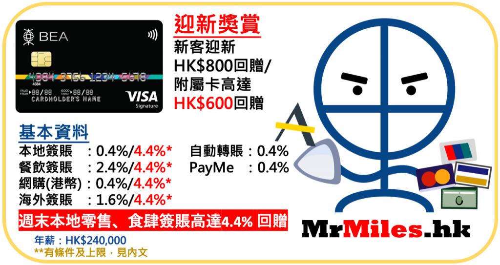 201903_東亞VisaSignature卡_現金回贈_迎新_優惠