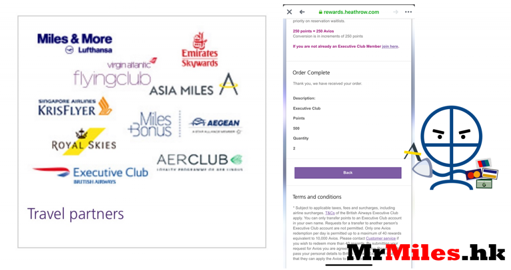 heathrow rewards asia miles avios