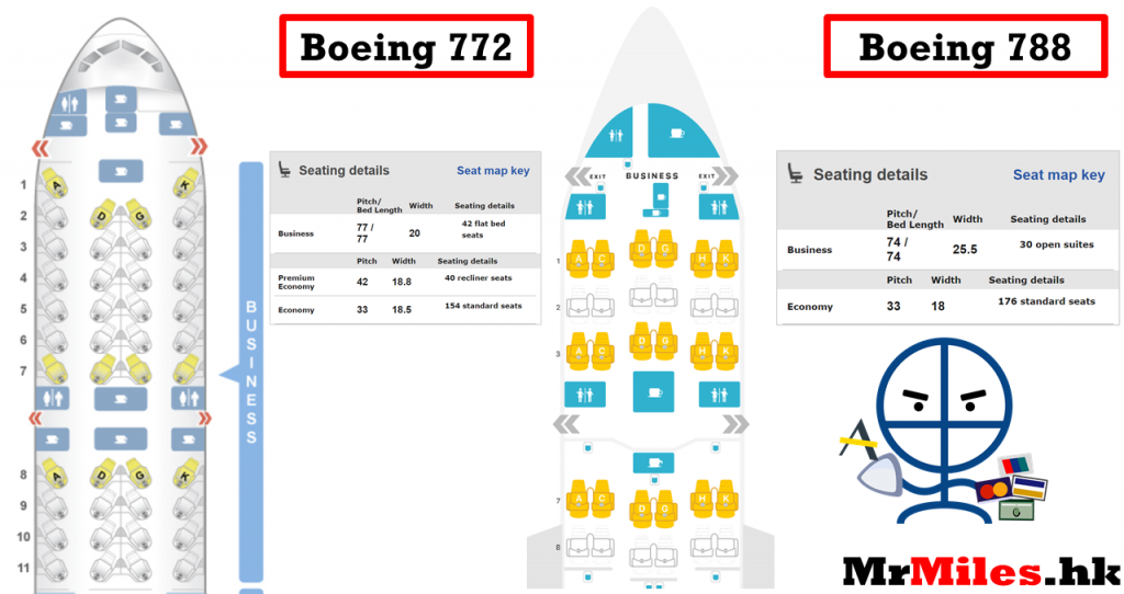 JAL business class seat map 商務艙座位表