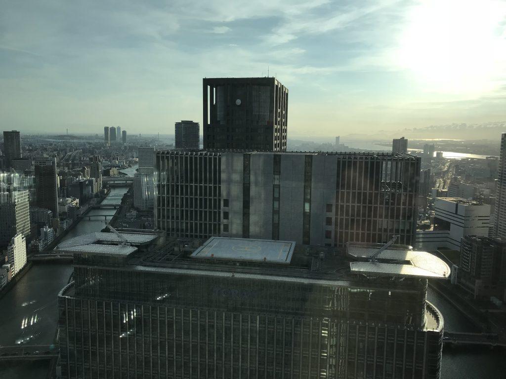 大阪康萊德酒店-房間可欣賞大阪都市景致