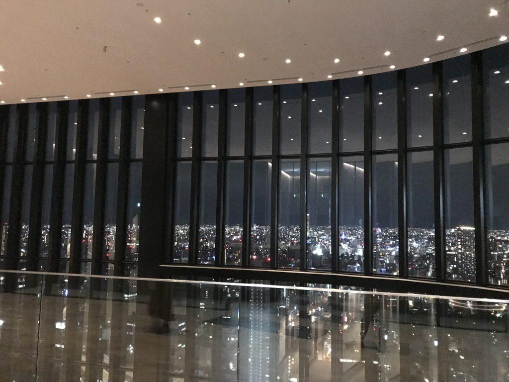 大阪康萊德酒店設施-酒店大堂位於40樓