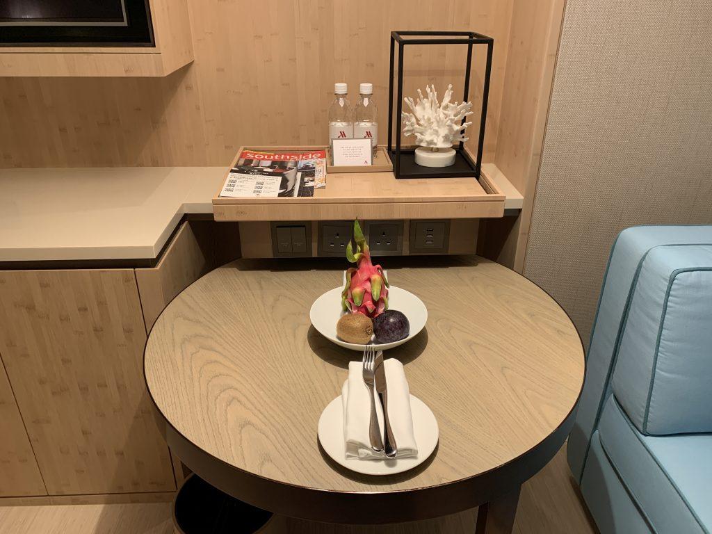 香港海洋公園萬豪酒店-迎賓生果及免費樽裝水