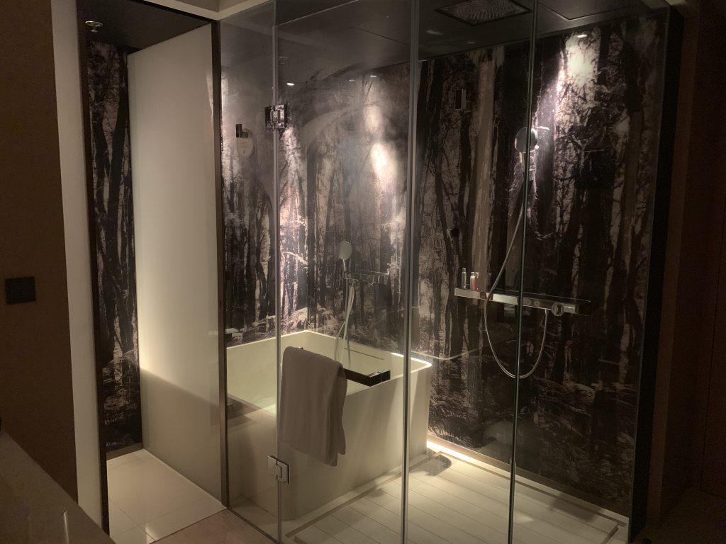 海洋公園萬豪酒店-浴缸同淋浴間共處一室