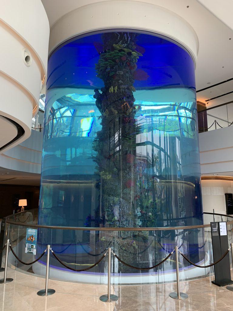香港海洋公園萬豪酒店_Lobby魚缸