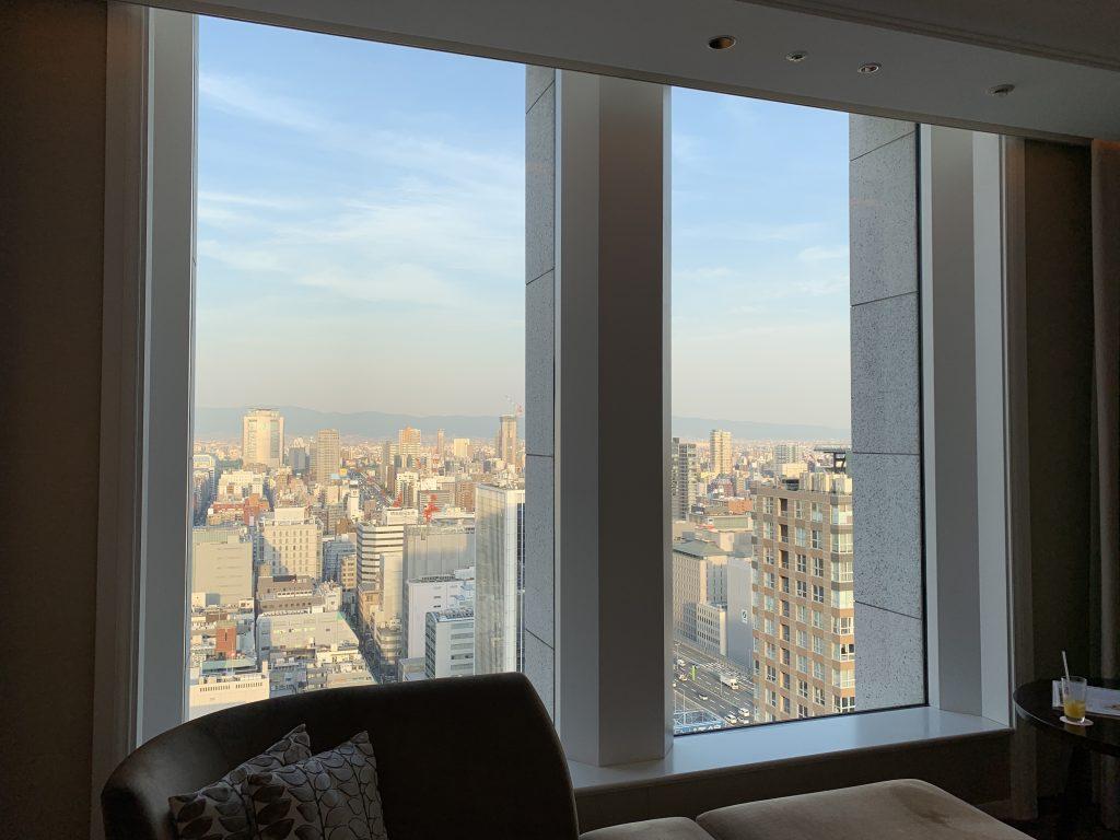 大阪瑞吉酒店-順便欣賞天際下的大阪都市景致