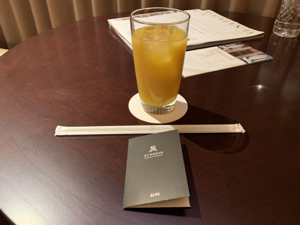 大阪瑞吉酒店-迎賓橙汁