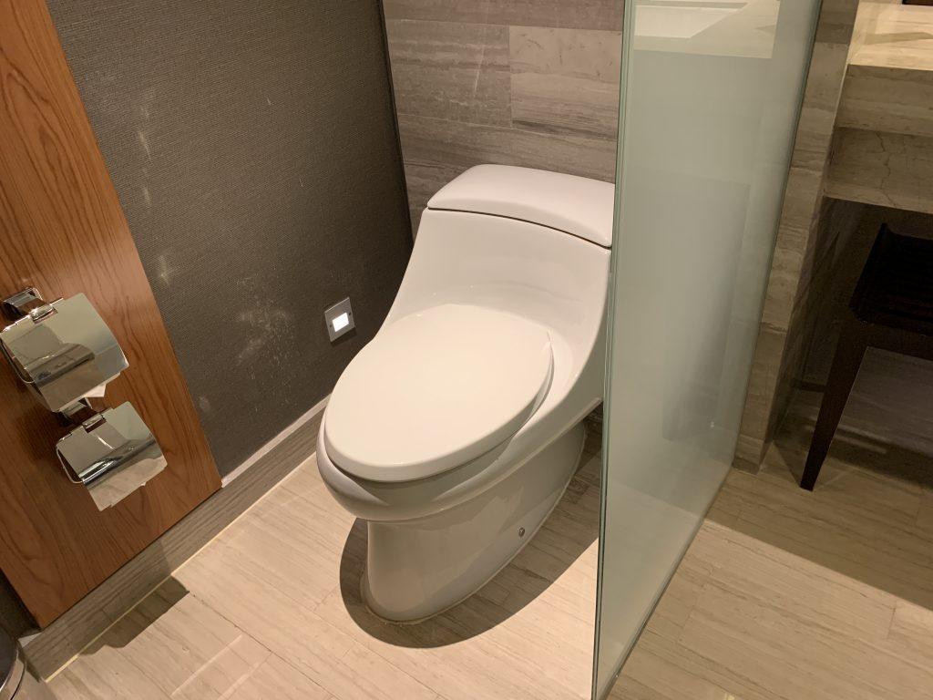 曼谷希爾頓素坤逸酒店-浴室使用普通馬桶
