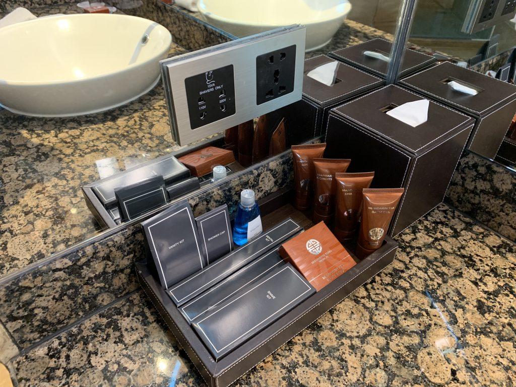 曼谷港麗酒店-浴室用品品牌是上海灘,氣味略為濃烈,如果不喜歡,可請管家部送上其他牌子使用
