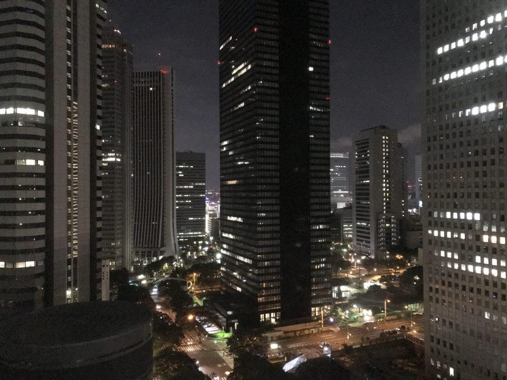 東京希爾頓酒店-套房窗外的東京都市景致