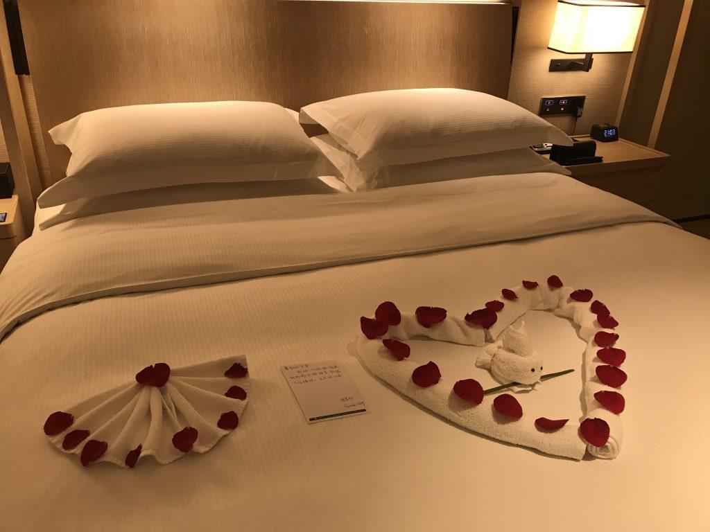 Hilton Shenzhen Shekou Nanhai-個心隔離有客房部職員的歡迎字條