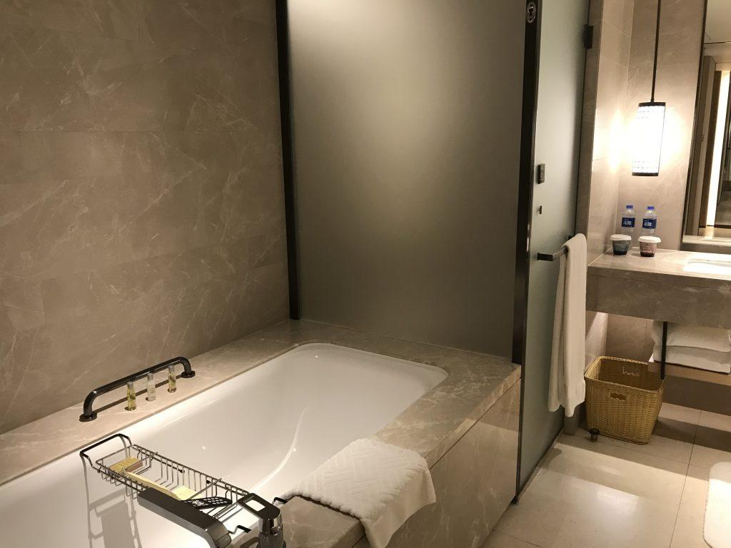 Hilton Shenzhen Shekou Nanhai-淋浴間隔離是浴缸