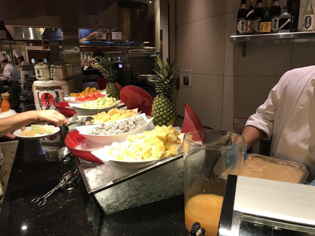 Conrad Macao Cotai Central奧旋自助餐Grand Orbit自助早餐-水果吧