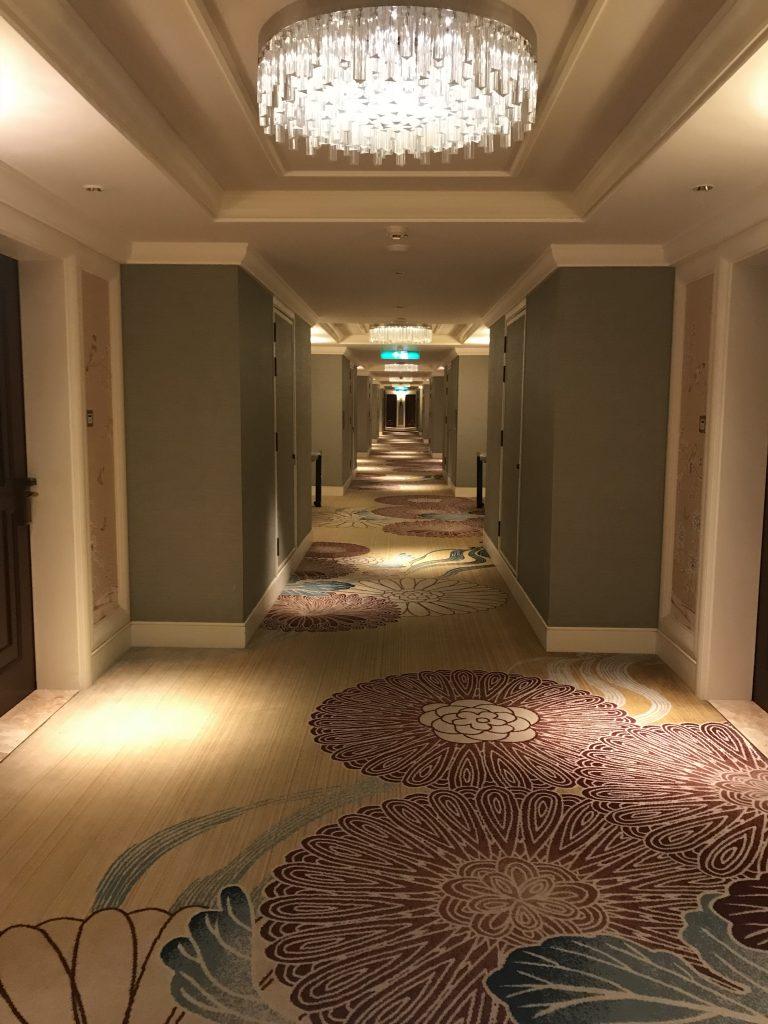 澳門金沙城中心康萊德酒店-房間樓層走廊,地毯幾靚