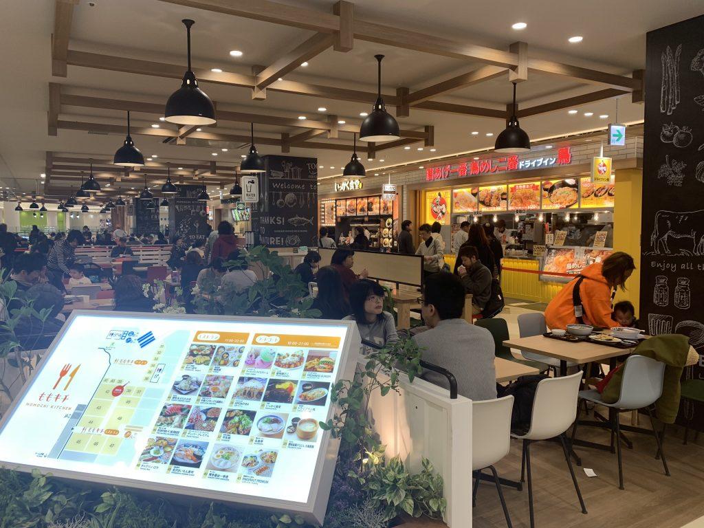福岡海鷹希爾頓酒店周邊-商場內食肆林立