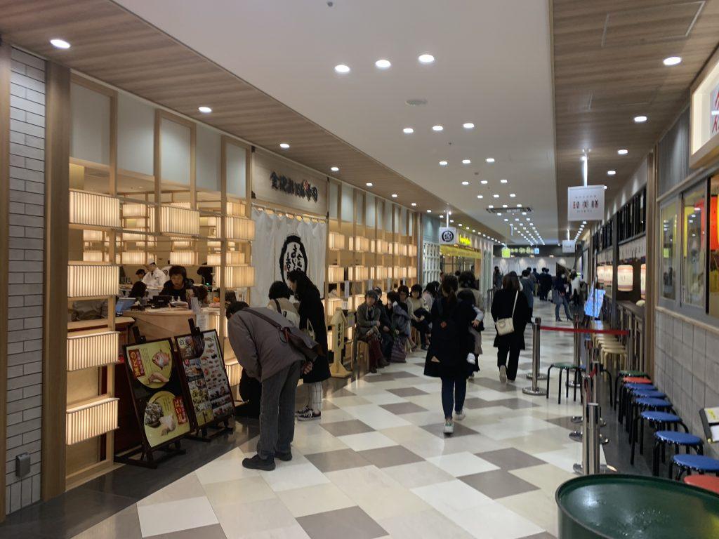 福岡海鷹希爾頓酒店周邊-商場內有壽司店