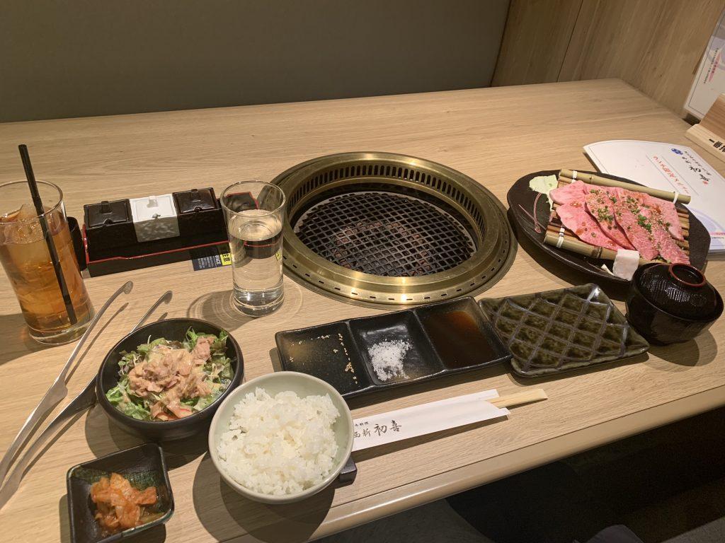 福岡海鷹希爾頓酒店周邊-商場內有燒肉定食店