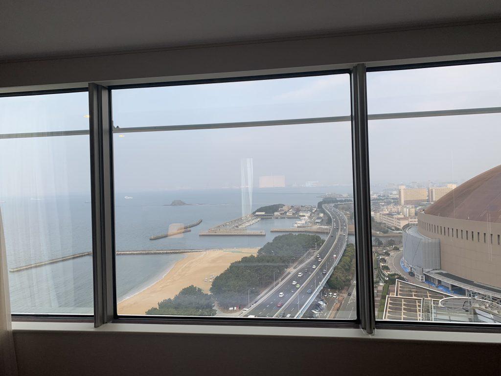 福岡海鷹希爾頓酒店-套房可眺望博多灣及福岡都市景色