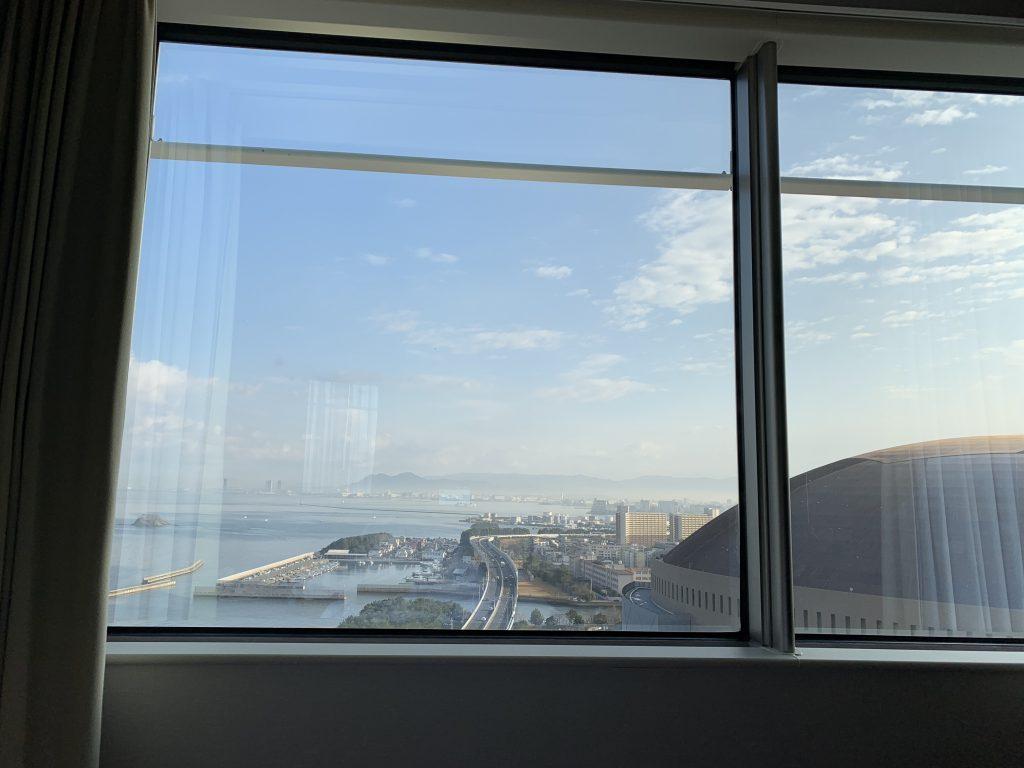 福岡海鷹希爾頓酒店-套房可望到福岡巨蛋場館