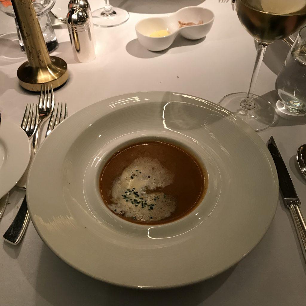 香港港麗酒店懷歐敘Brasserie on the Eighth-龍蝦湯