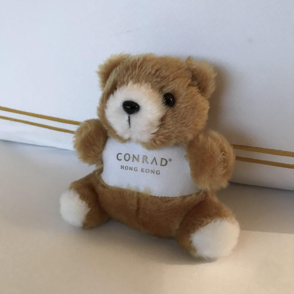 香港港麗酒店-房間贈送Conrad小熊