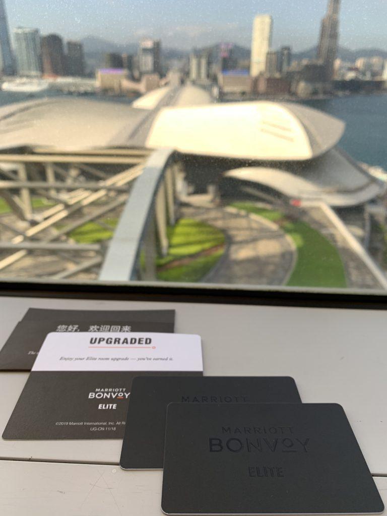 香港萬麗海景酒店-萬豪Elite member key card真係型到震