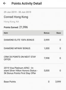 2019入住Conrad Hong Kong