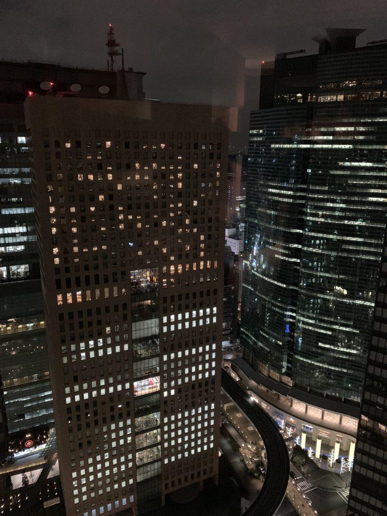 東京康萊德酒店-房間窗外的東京夜間都市景致