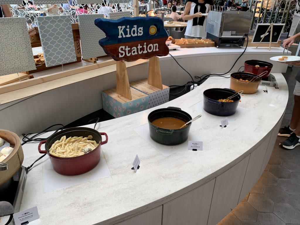 東京灣希爾頓酒店Lounge O-早餐一樣有Kids Station