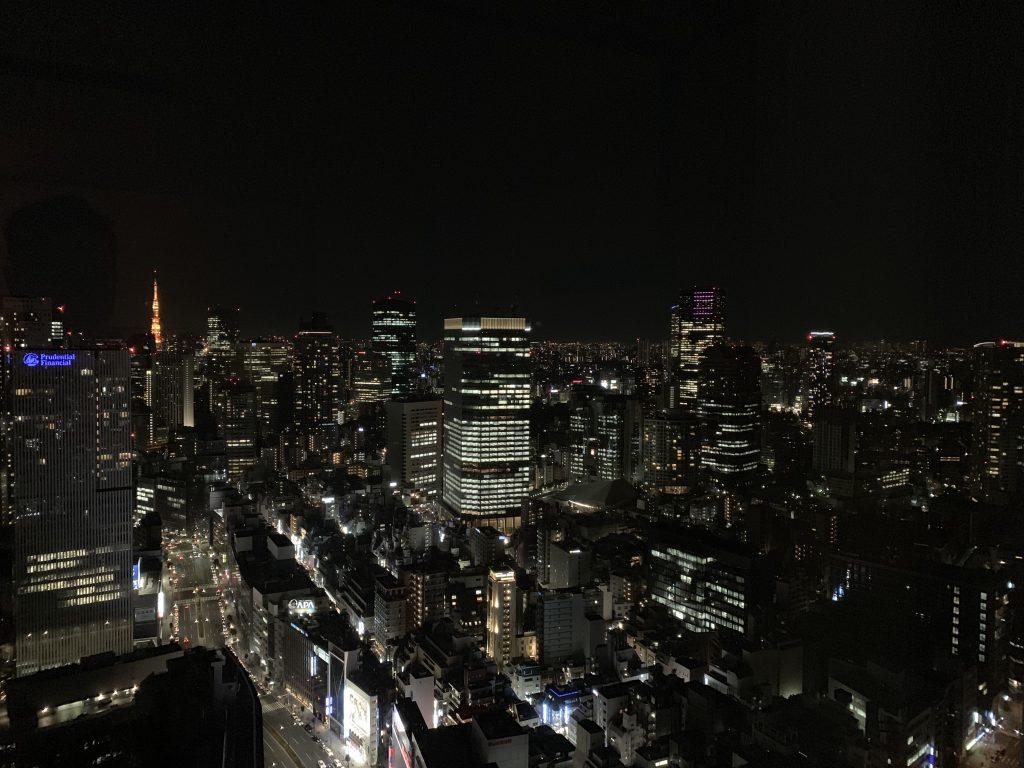 東京紀尾井町王子畫廊豪華精選酒店-房間窗外的東京都市景致一覽無遺