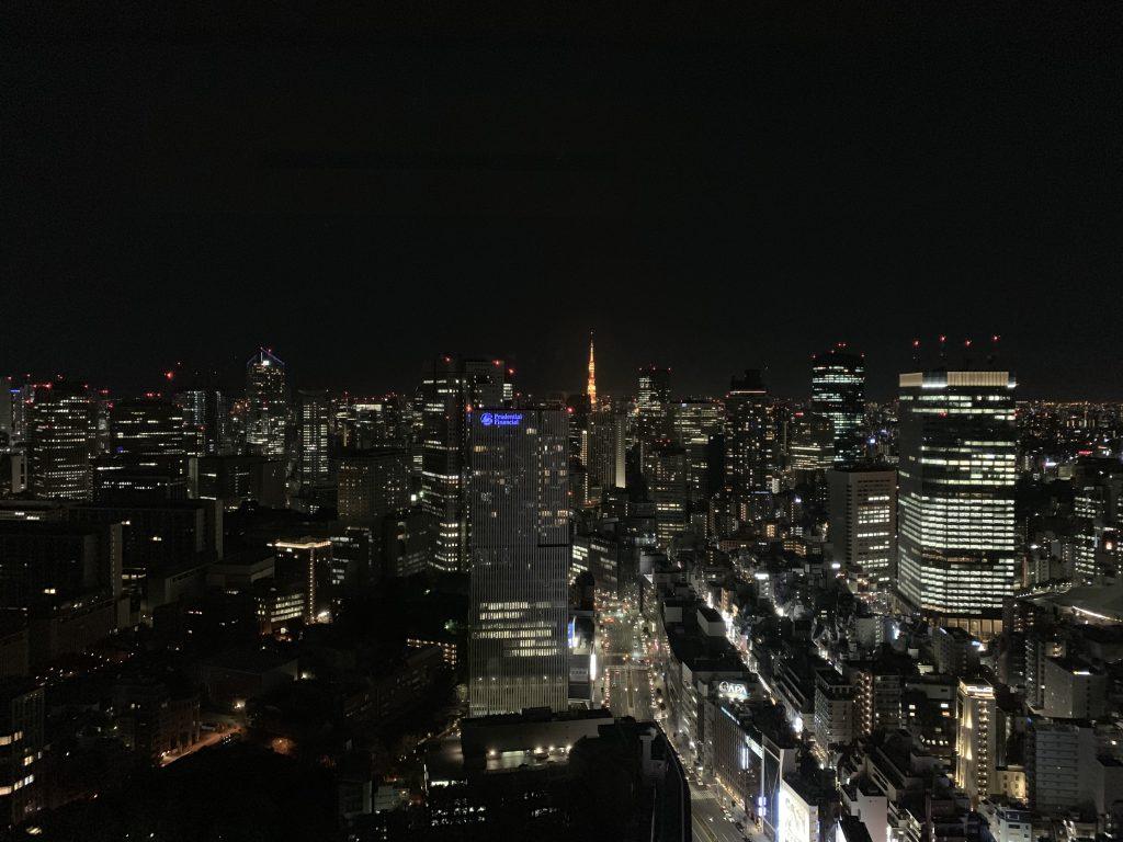 東京紀尾井町王子畫廊豪華精選酒店-房間窗外的東京夜間都市景致