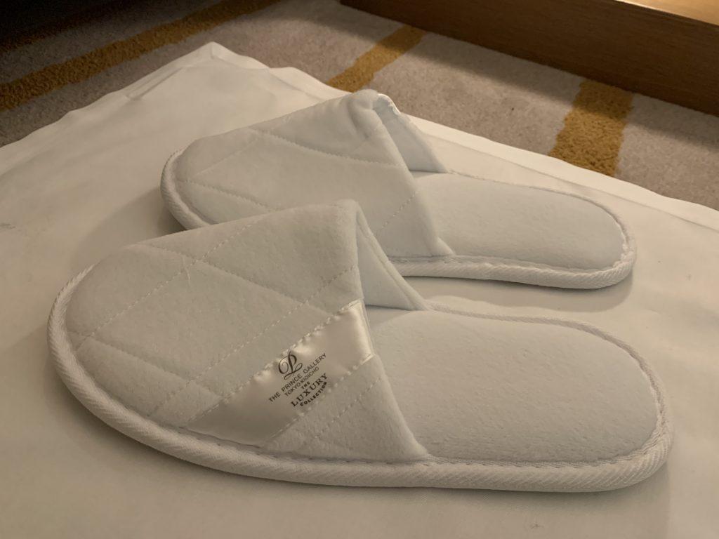 東京紀尾井町王子畫廊豪華精選酒店-房間白布袋內藏拖鞋