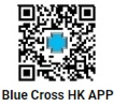 Blue cross download QR code