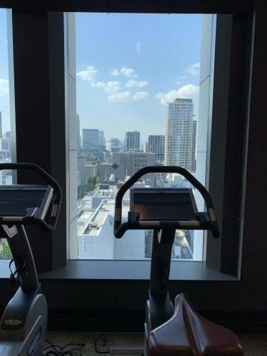 健身中心窗外景色