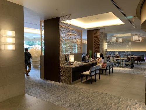 Celebrio Lounge接待處,Hilton Diamond會員可在此check in
