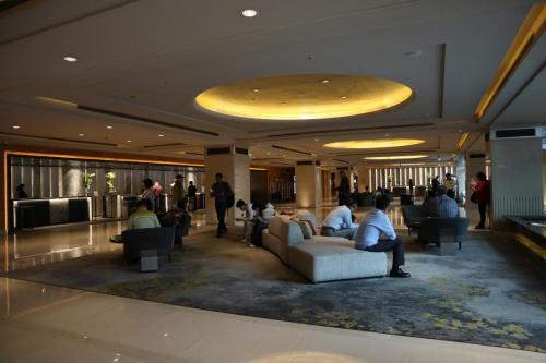 酒店大堂有提供空間於住客休息